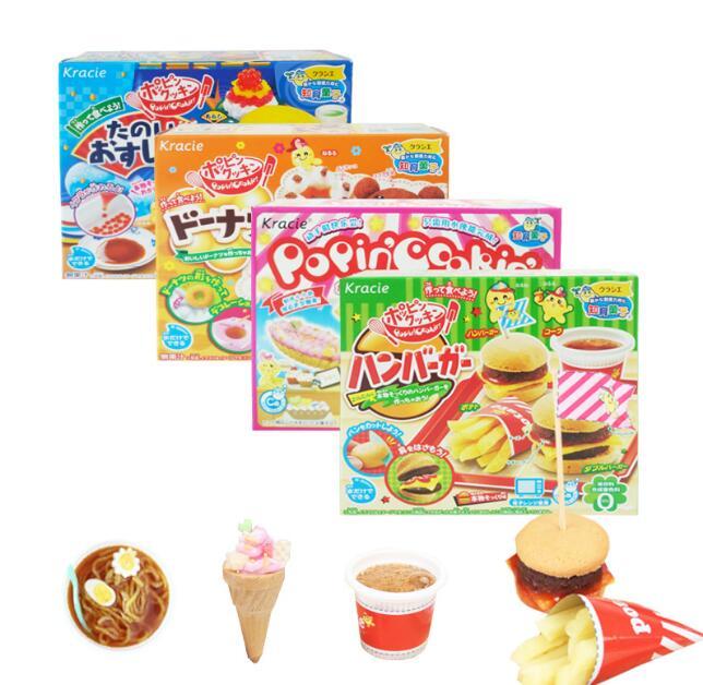 4pcs Japanese Popin Cook Happy cake donut hamburger ice cream DIY handmade Toy Kitchen Pretend Toys